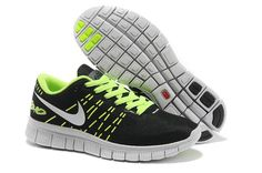 brand new c7f3a c4ee0 New Nike Free 6.0 2014 Black Green White Mens Running Shoes Discount   Wholesale for Grils