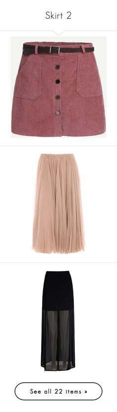 """Skirt 2"" by lalittaaristha ❤ liked on Polyvore featuring skirts, red skirt, pink corduroy skirt, corduroy skirt, pink skirt, red knee length skirt, bottoms, saias, gonne and chloe"