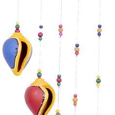 Terracota hanging conch shells