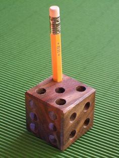 Walnut pencil dice