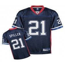 Bills  21 C.J. Spiller Dark Blue Stitched NFL Jersey Cj Spiller b2f9f3ce9