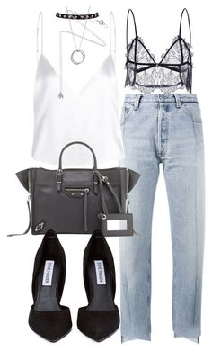 """Untitled #20259"" by florencia95 ❤ liked on Polyvore featuring Vetements, Balenciaga, John Hardy, Estella Bartlett and Steve Madden"