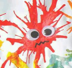 Turn blow art into a lesson about germs and micro organisms with you 3 year old