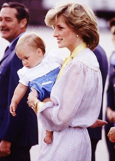 Diana, Princess of Wales with Prince William.