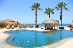Such a relaxing pool with ocean views for our guests at Puerta del Sol residences in Cabo del Sol, Cabo San Lucas, Mexico. #Cabo #LosCabos #vacations #travel #Mexico