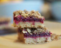 Cranberry Walnut Streusel Bars