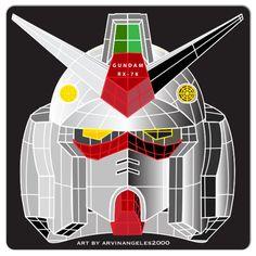 Rx-78 Gundam head vector