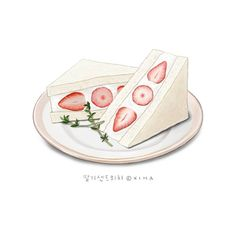 Haven't eaten much today, a salmon roll sounds good about now. Cute Food Art, Cute Art, Aesthetic Drawing, Aesthetic Art, Food Illustrations, Illustration Art, Korean Painting, Homemade Stickers, Food Cartoon
