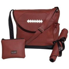 Timi and Leslie Diaper Bag-Football