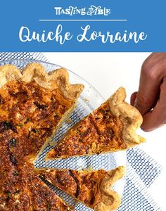 This classic French quiche combines eggs and cream with bacon, onions and Gruyère, all set in a buttery, flaky crust. Brunch Dishes, Brunch Recipes, Breakfast Recipes, Quiche Lorraine Recipe, Tapas, Savoury Baking, Tasting Table, Incredible Edibles, Best Chef