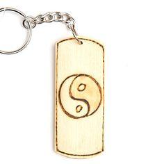 """Schlüsselanhänger Bambus """"Ying Yang"""" Bamboo 8cm groß Autoschlüssel Haustorschlüssel Haustür Anhänger Dreambase http://www.amazon.de/dp/B00J4JDJN8/?m=A37R2BYHN7XPNV"""