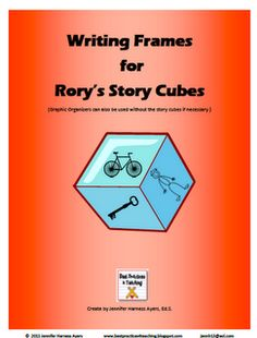 Writing frames for Rory's Story cubes. Freebie