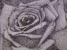 pointillism rose