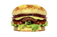 MEDEME! TOSCANA: Pão especial, hambúrguer único de linguiça toscana (200g), mozzarella, alface americana, cebola roxa e tomate.