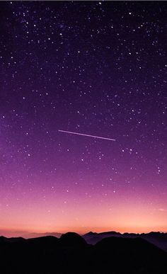 Shooting Star during Nighttime With Purple Sky Phone Screen Wallpaper, Star Wallpaper, Sunset Wallpaper, Tumblr Wallpaper, Cellphone Wallpaper, Galaxy Wallpaper, Cool Wallpaper, Iphone Wallpaper, Xiaomi Wallpapers