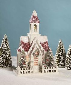 """New bethany lowe #15.5"""" vintage putz #church #christmas house lc4590,  View more on the LINK: http://www.zeppy.io/product/gb/2/292021394373/"""