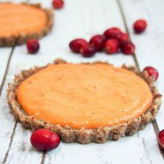 Cranberry lemon curd tart