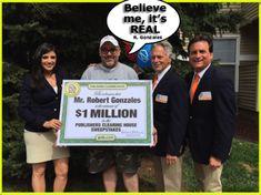 Robert Gonzalez $1 Million Winner