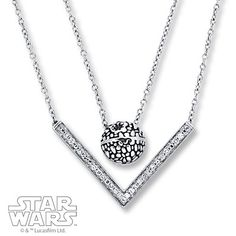 Layer on the Star Wars style with this fashionable Death Star necklace!