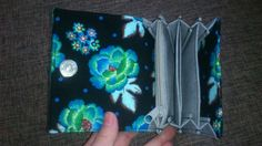 Peněženka modrý květ