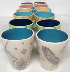 Diana Fayt, Diana Fayt Ceramics, Etching In Clay,Handmade Pottery,Drawings, Illustrations,Botanical, Animals,Scrimshaw,