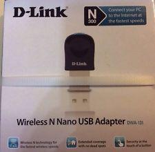 D-Link Wireless WIFI N Nano Usb Adapter Dongle Adaptador DWA-131