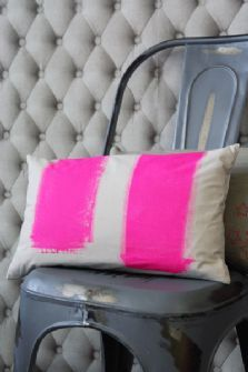 Hot Pink Paint Cushion