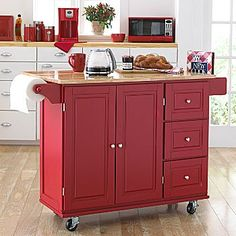 Kitchen cart... could diy with ready made cabinets