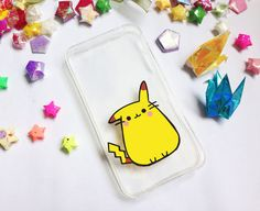 ♥ Hand painted pikachu phone cases  ♥ All cases will be made to order  ♥ This design is individually hand-painted using special permanent acrylic