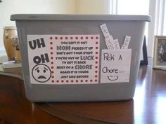 I absolutely love this idea. Great way to make sure the kids keep clean house