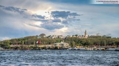 Photo of the historical peninsula taken from across the golden horn, Karaköy - you can see Topkapı Palace, where the Ottoman Sultans used to live. The cloud formation over the palace is also very interesting, looks magical! #turkey   #turkiye   #istanbul   #travel   #clouds   #blue   #sea   #history   #ottoman   #palace