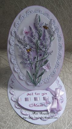 """Hello everyone, Sharing DT samples for Tattered Lace """"Lemon Verbena Collection"""". Launching on Create and Craft TV Thursday H. Fancy Fold Cards, Folded Cards, Create And Craft Tv, Heartfelt Creations Cards, Tattered Lace Cards, Shaped Cards, Easel Cards, Mothers Day Cards, Diy Cards"""
