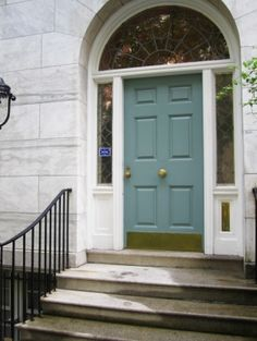aberdeen boneau arched top door in square opening w/ flemish glass