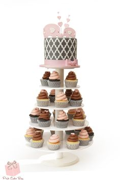 We created this cupcake tower and elephant cake topper for my good friend Jenn. She was throwing a baby shower for her friend and asked us to help her design a special cake.