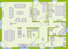 massa haus massa bungalow comfortstyle 10 01 P EG Bungalows, House Roof, Planer, Sweet Home, Floor Plans, House Design, Flooring, How To Plan, Interior