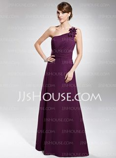 Evening Dresses - $126.99 - A-Line/Princess One-Shoulder Floor-Length Chiffon Evening Dress With Ruffle (017014740) http://jjshouse.com/A-Line-Princess-One-Shoulder-Floor-Length-Chiffon-Evening-Dress-With-Ruffle-017014740-g14740