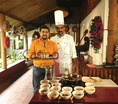 MMTV's Easter special shoot at ‪#‎casinohotelkochi‬ with actor Mr. Tini Tom and Casino Hotel's Sous Chef Tijomon Varghese. Featuring the ever so famous Kuttanadan Tharavu Roast.