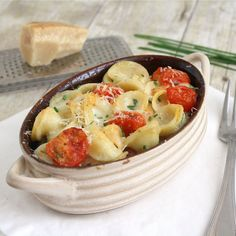 Pasta with Mascarpone and Roasted Cherry Tomatoes by Tracey's Culinary Adventures