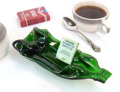 Jagermeister Melted Bottle Ashtray  Upcycled by MitchellGlassworks, $28.00