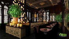 Night view #Interior #Design #Classic #Modern #Restaurant Creative Design