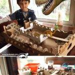 Замък с динозаври и рицари с кестени