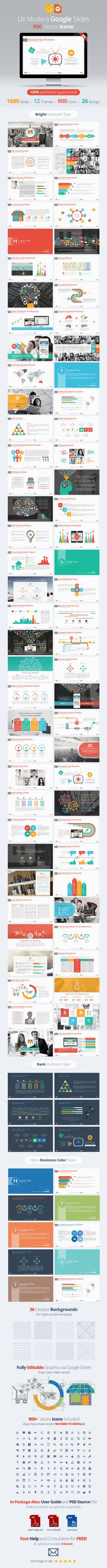 Modern #GoogleSlides #PresentationTemplate - Google Slides Presentation Templates