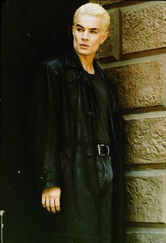 Spike:British accent, scar, cheek bones, blood lust and a leather trench cost. He also fought for and earned his soul.