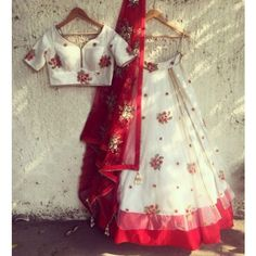 Rs.1928, Buy Online Crazy Net White Embroidered Semi Stitched Lehenga - Ldb1450 - Crazy - Reviews - Indiarush