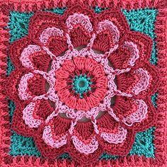 Free mandala/flower crochet pattern.