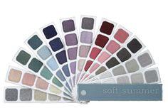 Indigo Tones Soft Summer Color Swatch Book #coloranalysis
