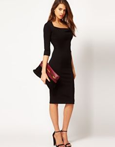 ASOS Pencil Dress With Cowl Neck. Loving it. :)