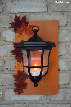 Fall-inspired DIY Lanterns Upcycled From Thrifted Path Lights - Thrift Divng Blog - 789 Nature Decor, Natural Home Decor, Path Lights, Fall Diy, Lanterns, Blogger Decor, Diy Lanterns, Exterior Decor, Thrifting