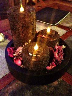 DIY primitive grubby candles