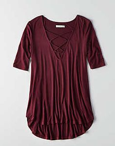 AEO Soft & Sexy Lace-Up Top -